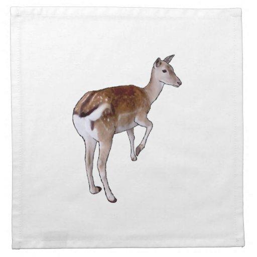 Female Deer. Printed Napkins