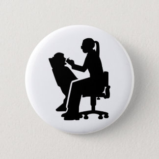 Female dentist 2 inch round button