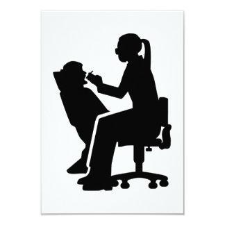 Female dentist card