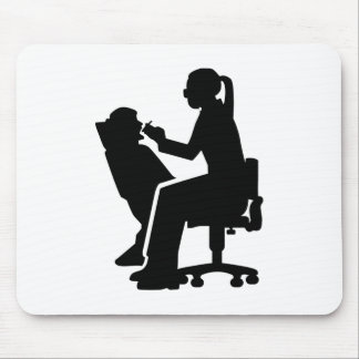 Female dentist mouse pad