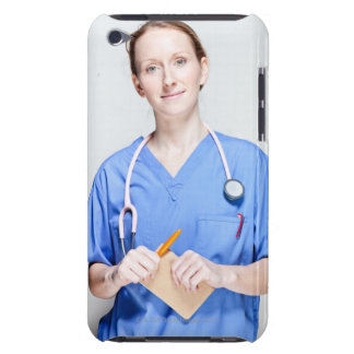 Female Doctor in Scrubs iPod Touch Case-Mate Case