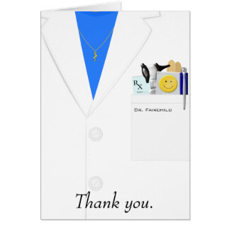 Female Doctor Thank You Card