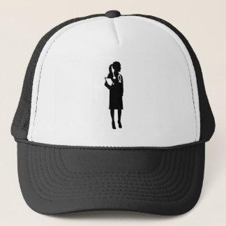 Female doctor trucker hat