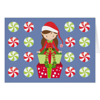 Female Elf with Candies Card