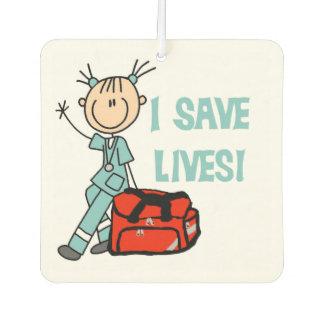 Female EMT I Save Lives Air Freshner Car Air Freshener