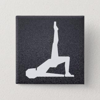 Female Exercises Graphic 2 Inch Square Button