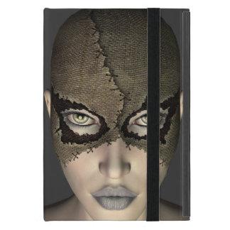 Female Face with a Stitched Burlap Mask iPad Mini Cases