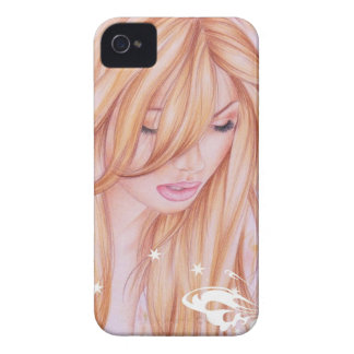 Female face with butterfly motif iPhone 4 Case-Mate cases