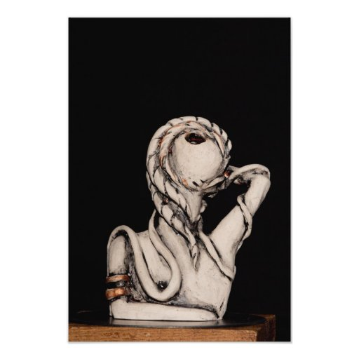 Female figure photographic print