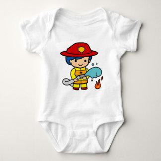 Female Firefighter Baby Bodysuit