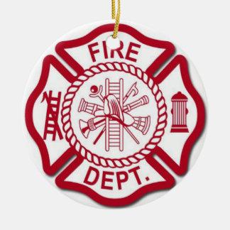 Female Firefighter Ornament