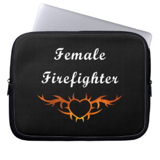 Female Firefighter Tattoo Laptop Sleeve