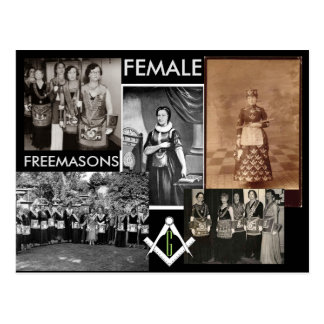 Female Freemasons Postcard