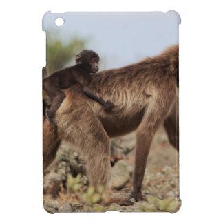 Female gelada baboon with a baby iPad mini case
