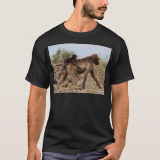 Female gelada baboon with a baby T-Shirt