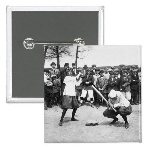 Female Giants: 1913 Pinback Button