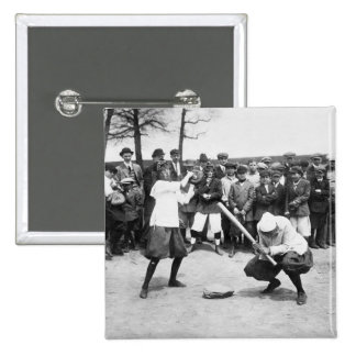 Female Giants 1913 Pinback Button