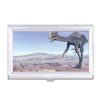 Female gigantoraptor going to its nest - 3D render Business Card Holder