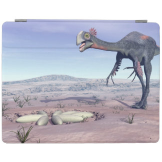 Female gigantoraptor going to its nest - 3D render iPad Cover