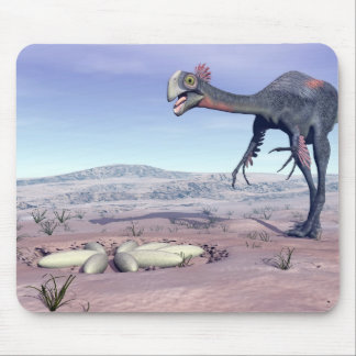 Female gigantoraptor going to its nest - 3D render Mouse Pad