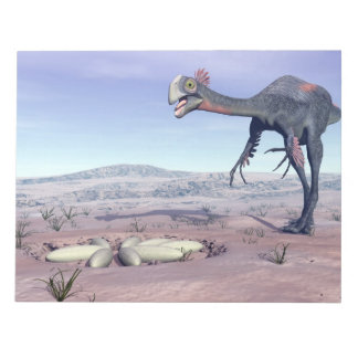 Female gigantoraptor going to its nest - 3D render Notepad