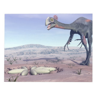 Female gigantoraptor going to its nest - 3D render Notepad