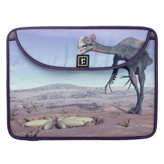 Female gigantoraptor going to its nest - 3D render Sleeve For MacBooks