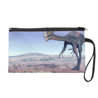 Female gigantoraptor going to its nest - 3D render Wristlet