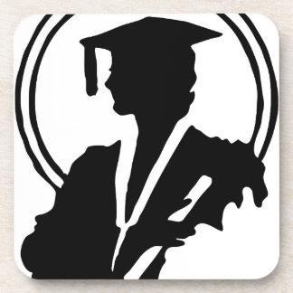 Female Graduate Silhouette Coaster