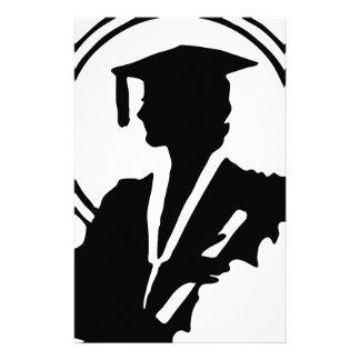 Female Graduate Silhouette Stationery