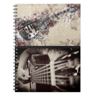 Female Guitar Player Artsy Notebook