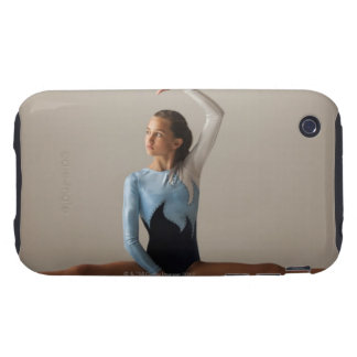 Female gymnast (12-13) performing splits tough iPhone 3 covers