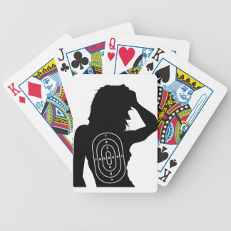 Female Human Shape Target Bicycle Playing Cards