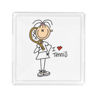 Female I Love Tennis Acrylic Tray