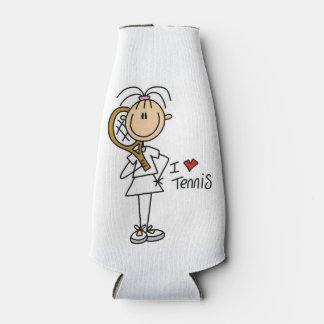 Female I Love Tennis Bottle Cooler