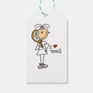Female I Love Tennis Gift Tags