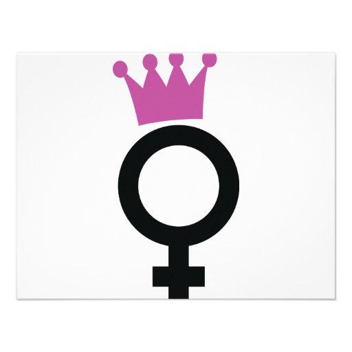 female icon custom invitations