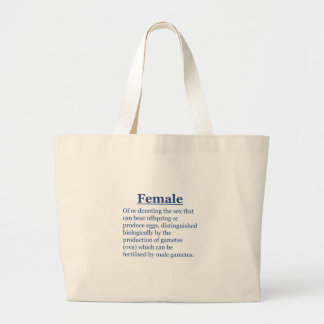 Female in Blue Large Tote Bag