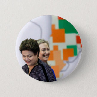 Female Leaders: Dilma & Hillary 2 Inch Round Button