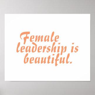 Female Leadership is Beautiful poster