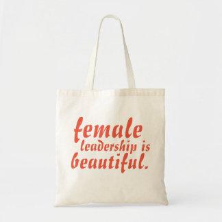 Female leadership is beautiful tote