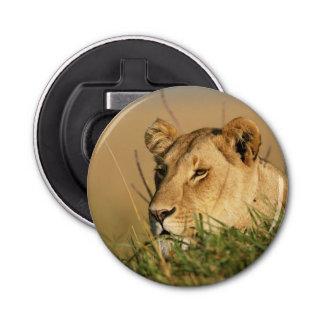 Female Lion Button Bottle Opener