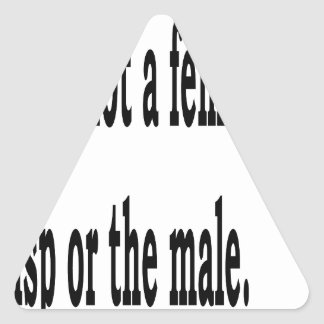 Female Lisp, 2 Triangle Sticker