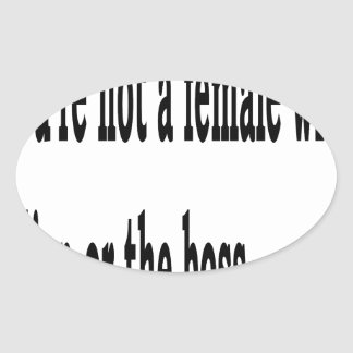 Female Lisp, 3w Oval Sticker