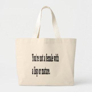 Female Lisp, 4 Large Tote Bag