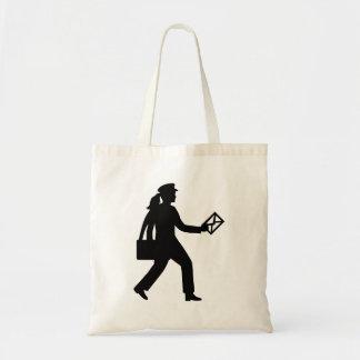 Female mailman tote bag