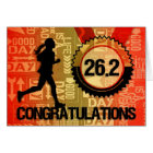 Female Marathon Race Runner Congratulations Card