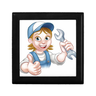 Female Mechanic or Plumber with Spanner Gift Box