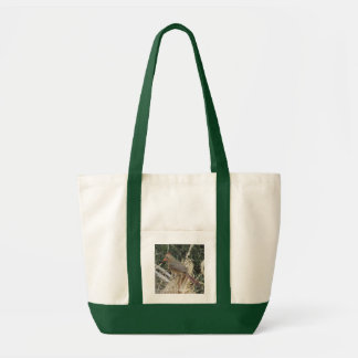 Female Northern Cardinal on Corn Tassel Tote Bag