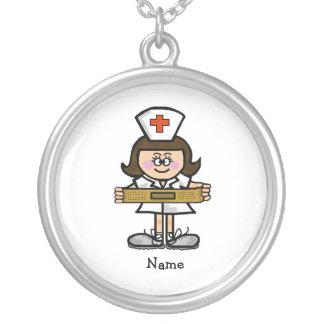 Female Nurse Necklace  Customize It with Name